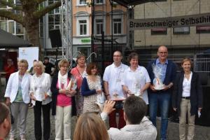Gruppenfoto der geehrten Ehrenamtlichen